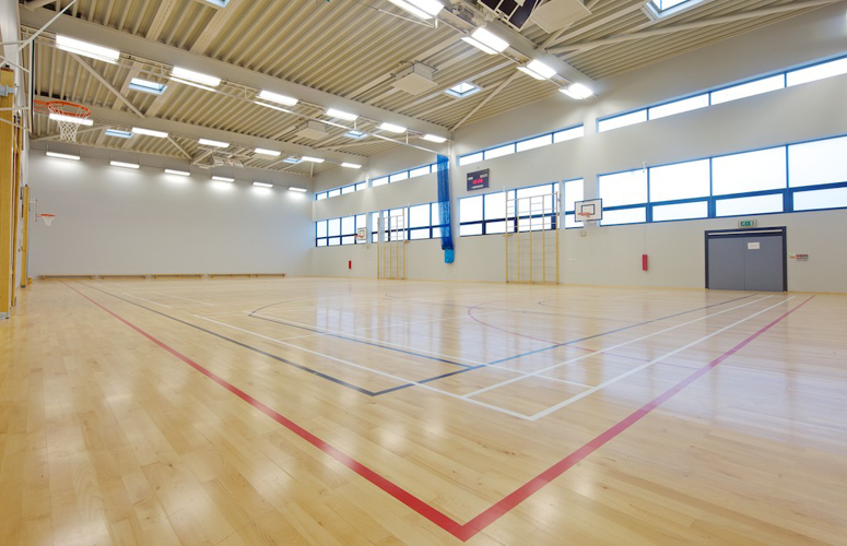 Abw architects gym link building edge hill for How to build a basketball gym